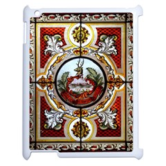 Stained Glass Skylight In The Cedar Creek Room In The Vermont State House Apple Ipad 2 Case (white)