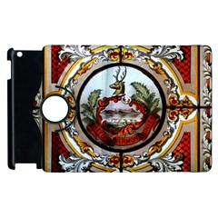 Stained Glass Skylight In The Cedar Creek Room In The Vermont State House Apple Ipad 2 Flip 360 Case by Nexatart