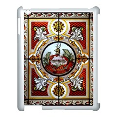 Stained Glass Skylight In The Cedar Creek Room In The Vermont State House Apple Ipad 3/4 Case (white)