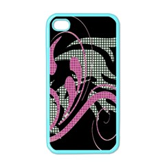 Violet Calligraphic Art Apple Iphone 4 Case (color)
