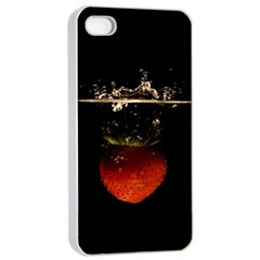 Strawberry Apple Iphone 4/4s Seamless Case (white)