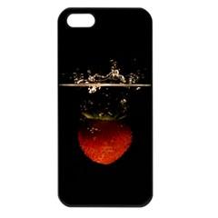 Strawberry Apple Iphone 5 Seamless Case (black) by Nexatart
