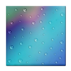 Water Droplets Tile Coasters