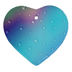 Water Droplets Ornament (heart)