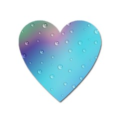 Water Droplets Heart Magnet by Nexatart