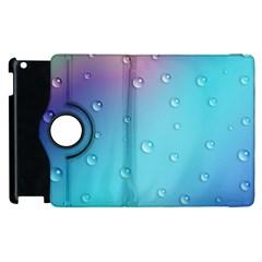 Water Droplets Apple Ipad 3/4 Flip 360 Case