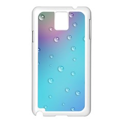 Water Droplets Samsung Galaxy Note 3 N9005 Case (white)