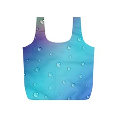 Water Droplets Full Print Recycle Bags (s)