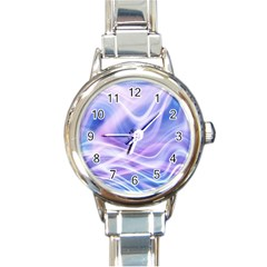 Abstract Graphic Design Background Round Italian Charm Watch