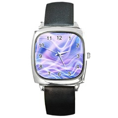 Abstract Graphic Design Background Square Metal Watch