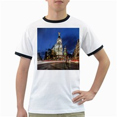 Architecture Building Exterior Buildings City Ringer T Shirts by Nexatart