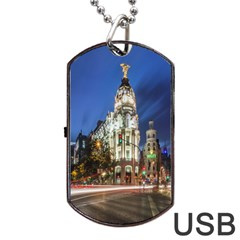 Architecture Building Exterior Buildings City Dog Tag Usb Flash (one Side)