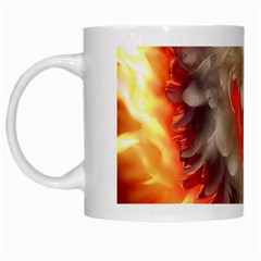 Arts Fire Valentines Day Heart Love Flames Heart White Mugs by Nexatart