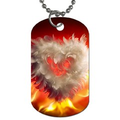 Arts Fire Valentines Day Heart Love Flames Heart Dog Tag (one Side) by Nexatart