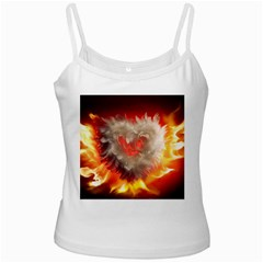 Arts Fire Valentines Day Heart Love Flames Heart Ladies Camisoles by Nexatart