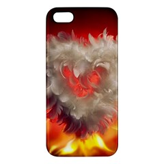 Arts Fire Valentines Day Heart Love Flames Heart Apple Iphone 5 Premium Hardshell Case by Nexatart