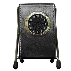 Black Rectangle Wallpaper Grey Pen Holder Desk Clocks
