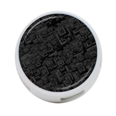 Black Rectangle Wallpaper Grey 4 Port Usb Hub (two Sides)