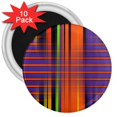 Background Texture Patterncake Happy Birthday 3  Magnets (10 pack)