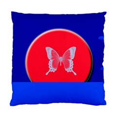 Blue Background Butterflies Frame Standard Cushion Case (two Sides)