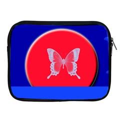 Blue Background Butterflies Frame Apple Ipad 2/3/4 Zipper Cases