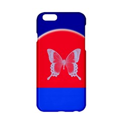 Blue Background Butterflies Frame Apple Iphone 6/6s Hardshell Case