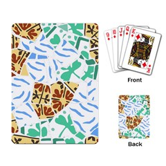 Broken Tile Texture Background Playing Card