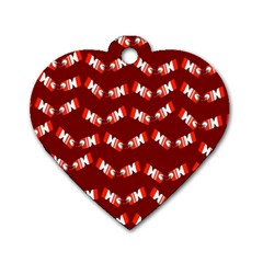 Christmas Crackers Dog Tag Heart (one Side)