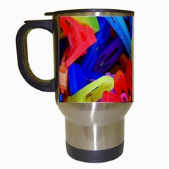 Clothespins Colorful Laundry Jam Pattern Travel Mugs (white) by Nexatart