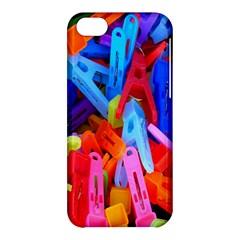 Clothespins Colorful Laundry Jam Pattern Apple Iphone 5c Hardshell Case