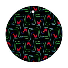 Computer Graphics Webmaster Novelty Pattern Round Ornament (two Sides) by Nexatart
