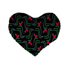 Computer Graphics Webmaster Novelty Pattern Standard 16  Premium Flano Heart Shape Cushions