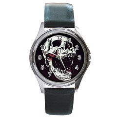 Death Skull Round Metal Watch