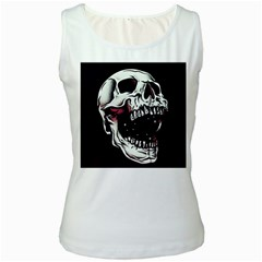 Death Skull Women s White Tank Top
