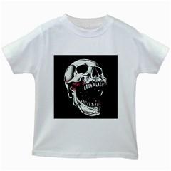 Death Skull Kids White T Shirts