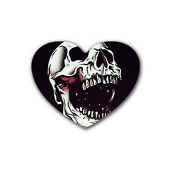 Death Skull Heart Coaster (4 Pack)  by Nexatart