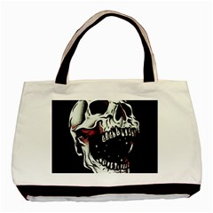Death Skull Basic Tote Bag (two Sides) by Nexatart