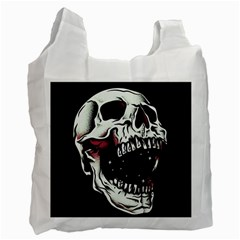 Death Skull Recycle Bag (one Side) by Nexatart