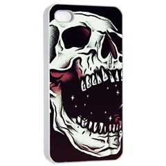 Death Skull Apple Iphone 4/4s Seamless Case (white)