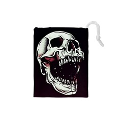 Death Skull Drawstring Pouches (small)