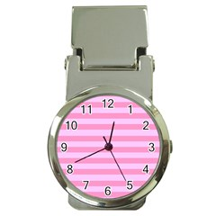 Fabric Baby Pink Shades Pale Money Clip Watches
