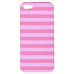 Fabric Baby Pink Shades Pale Apple Iphone 5 Hardshell Case by Nexatart