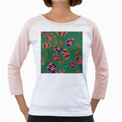 Flowers Pattern Girly Raglans by Nexatart