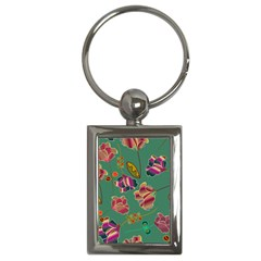 Flowers Pattern Key Chains (rectangle)  by Nexatart