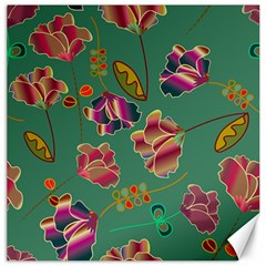 Flowers Pattern Canvas 16  X 16