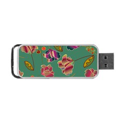 Flowers Pattern Portable Usb Flash (two Sides)