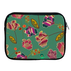 Flowers Pattern Apple Ipad 2/3/4 Zipper Cases