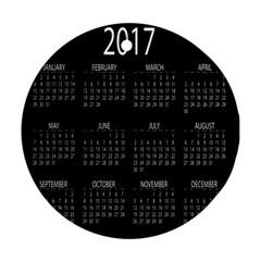 Full 2017 Calendar Vector Ornament (round)