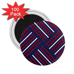 Geometric Background Stripes Red White 2 25  Magnets (100 Pack)