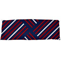 Geometric Background Stripes Red White Body Pillow Case Dakimakura (two Sides)